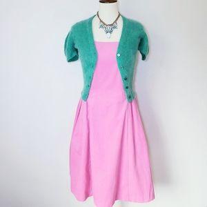 Isaac mizrahi pink cordoroy pin up dress M